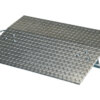 "Aluminum Hand Truck Dockplate 500# Uniform Capacity 36"" X 24"" Platform"
