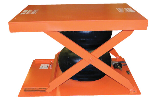 Low-Profile Air Bag Scissor Lift Table 2,000# Uniform Capacity