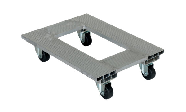 "Aluminum Channel Dolly 900# Uniform Capacity 18"" X 24"" Platform"