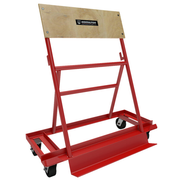 A-Frame Steel Truck 800# Uniform Static Capacity with Mold-on-Rubber Casters