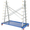 A-Frame Storage Cart 2,000# Uniform Static Capacity with Poly-on-Steel Casters
