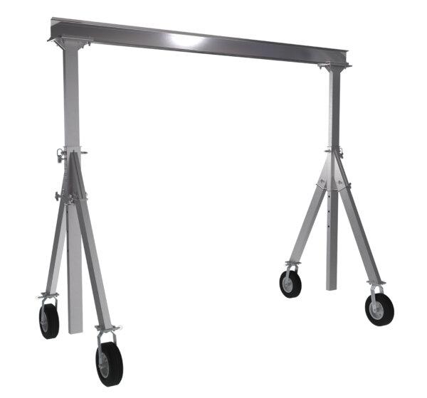 "Adjustable Height Aluminum Gantry Cranes with Under I-Beam Range 8' 2"" - 10' 8"""