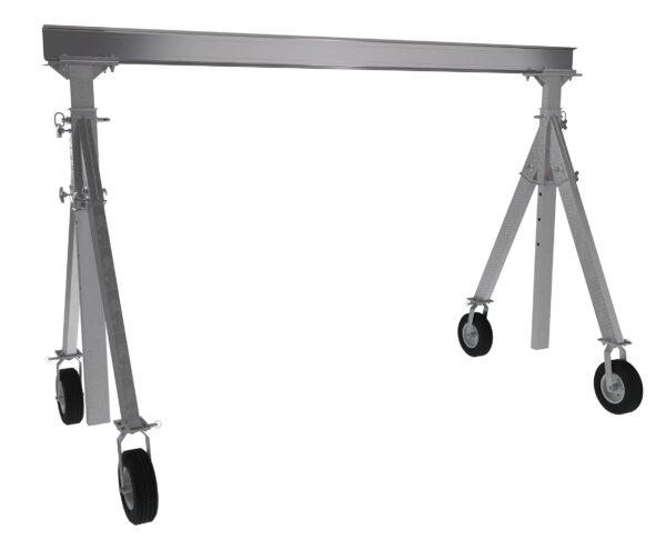 "Adjustable Height Aluminum Gantry Cranes with Under I-Beam Range 6' 2"" - 8' 8"""