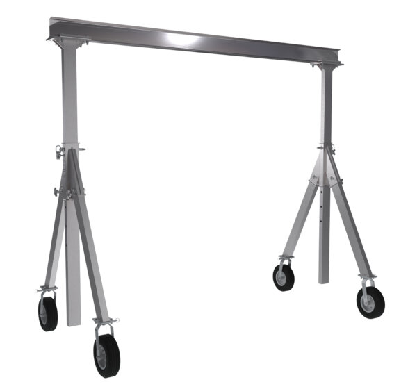 "Adjustable Height Aluminum Gantry Cranes with Under I-Beam Range 8' 2"" - 10' 8"""