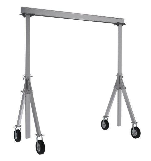 "Adjustable Height Aluminum Gantry Cranes with Under I-Beam Range 10' - 12' 6"""