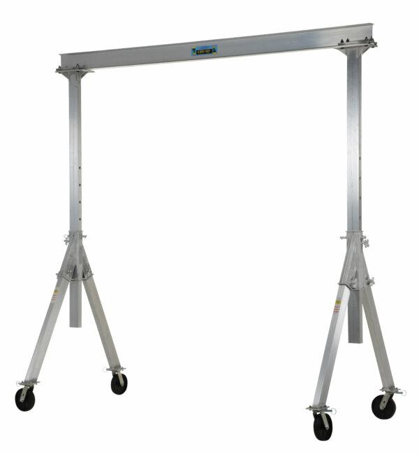 "Adjustable Height Aluminum Gantry Cranes with Under I-Beam Range 7' 8"" - 10' 2"""