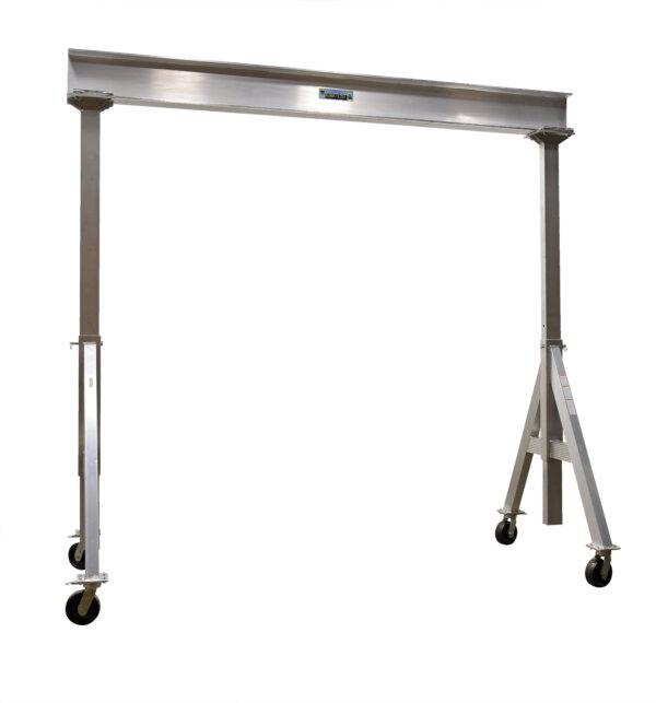 "Adjustable Height Aluminum Gantry Cranes with Under I-Beam Range 10' 2"" - 12' 2"""