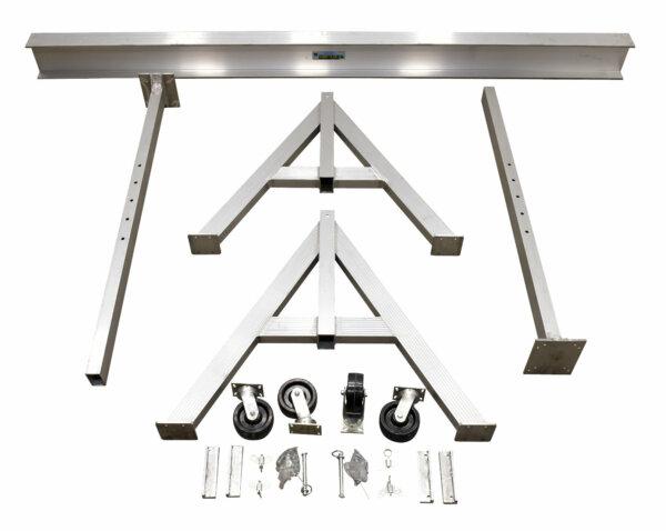 "Adjustable Height Aluminum Gantry Cranes with Under I-Beam Range 8' 2"" - 10' 2"""
