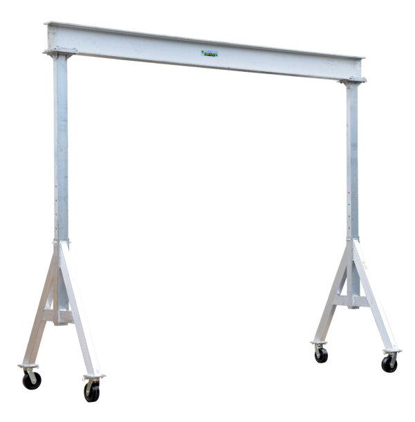 "Adjustable Height Aluminum Gantry Cranes with Under I-Beam Range 6' 2"" - 8' 2"""