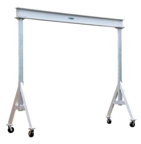 "Adjustable Height Aluminum Gantry Cranes with Under I-Beam Range 10' 2"" - 12' 2"""