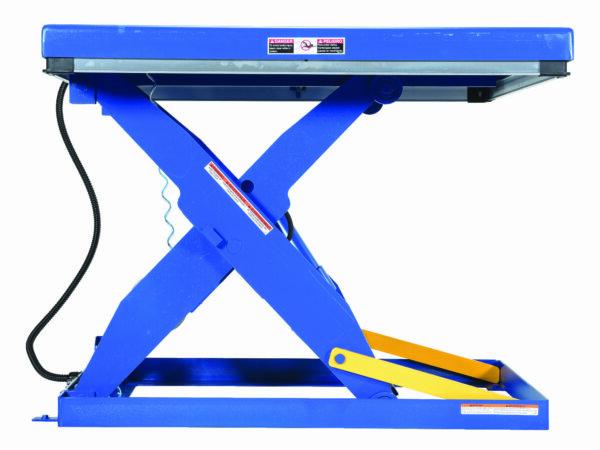 "Rotary Air/Hydraulic Scissor Lift Table 3,000# Uniform Capacity 24"" X 48"" Platform"