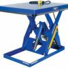 "Rotary Air/Hydraulic Scissor Lift Table 3,000# Uniform Capacity 40"" X 48"" Platform"
