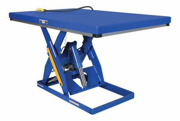 "Rotary Air/Hydraulic Scissor Lift Table 3,000# Uniform Capacity 48"" X 72"" Platform"