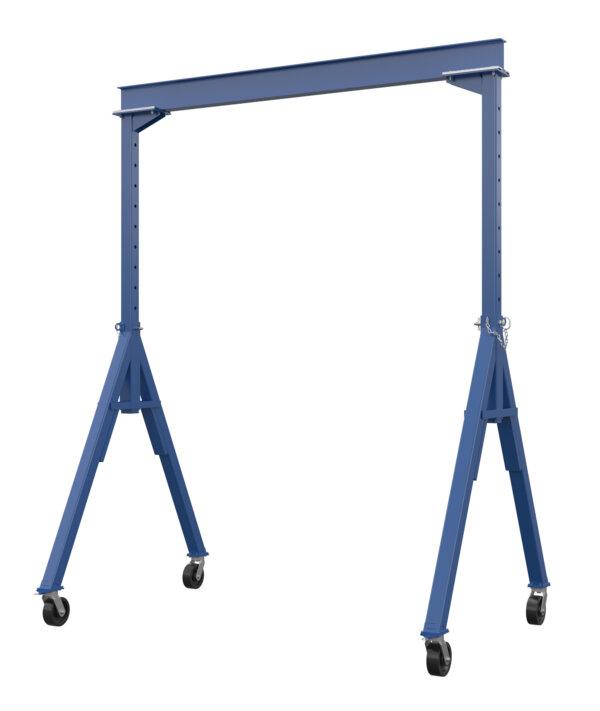 "Adjustable Steel Gantry Crane with Under Beam Usable Height 8' 6"" - 14'"