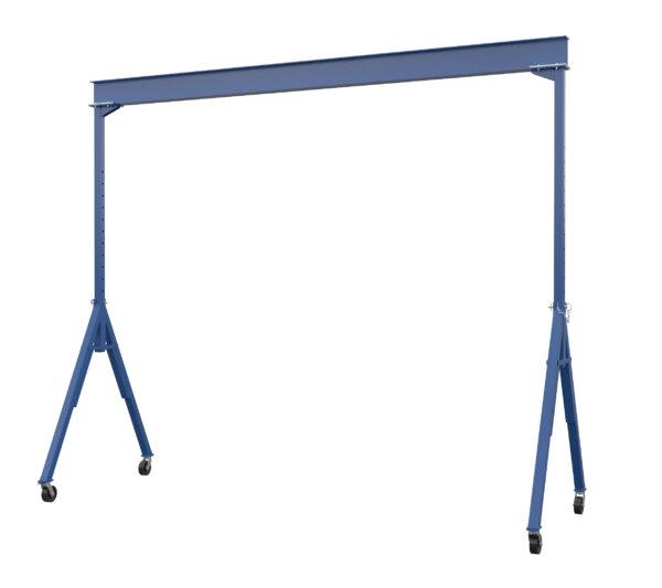 "Adjustable Steel Gantry Crane with Under Beam Usable Height 10' 6"" - 16'"