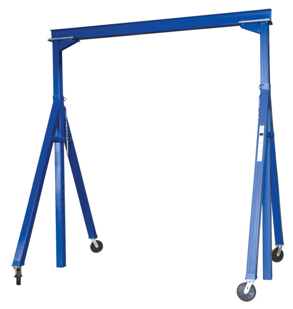 "Adjustable Steel Gantry Crane with Under Beam Usable Height 10' 7"" - 16' 1"""