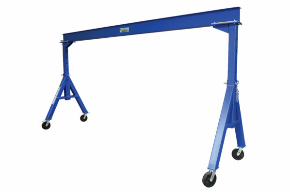 "Adjustable Steel Gantry Crane with Under Beam Usable Height 7' 7"" - 12' 1"""
