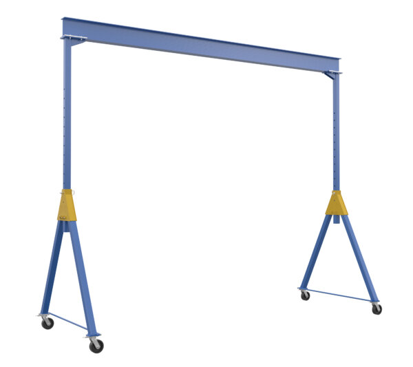 """Adjustable Knockdown Steel Gantry Cranes with Under Beam Usable Height 10' 7"""" - 16' 1"""""""