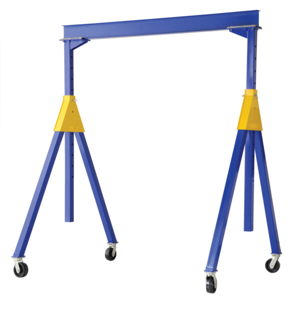 "Adjustable Knockdown Steel Gantry Cranes with Under Beam Usable Height 6' 7"" - 10' 1"""