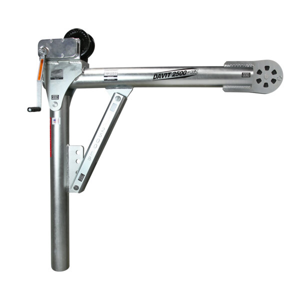2500 lb. Steel Davit Crane w/Manual Winch