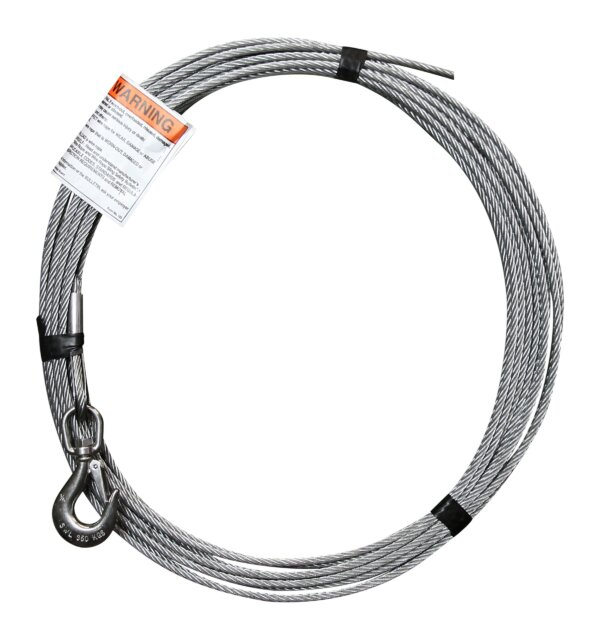 "1/4"" x 45' Galvanized cable assbly."