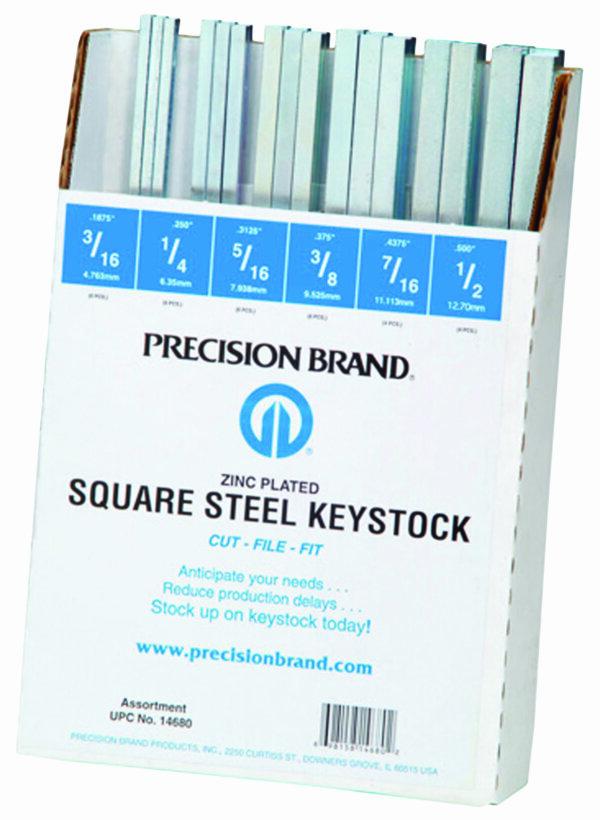 "32 Piece Square Keystock Assortment 12"" Length"