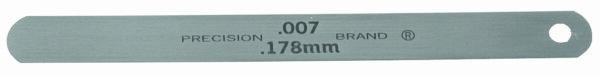 "0.001"" Steel Feeler Gage 1/2"" x 5"" Blades"