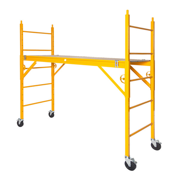"""Classic 600 Series Mobile Interior Complete Scaffold With 5"""" Silver Line Casters"""