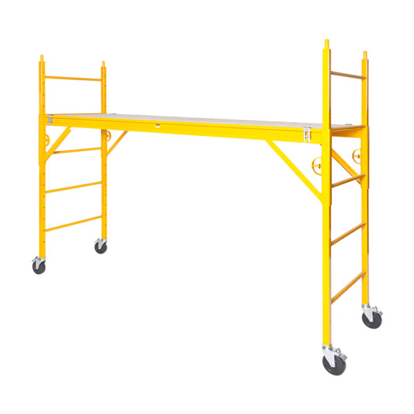 "Classic 600 Series Mobile Interior Complete Scaffold With 5"" Silver Line Casters"