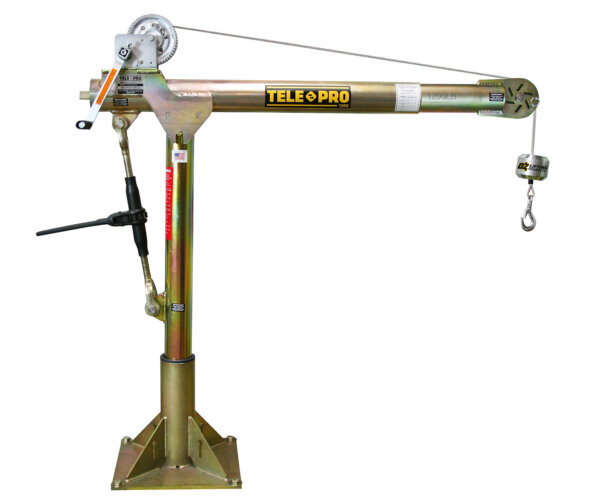 Tele-Pro 1,200 lb. Davit Crane w/ Manual Winch