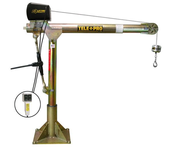 Tele-Pro 1,200 lb. Davit Crane w/ 110V AC Electric Winch