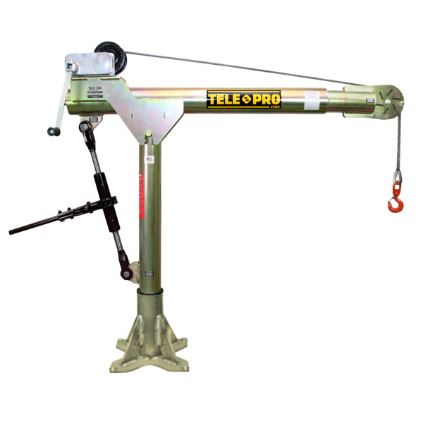 Tele-Pro 2,500 lb. Davit Crane w/ Manual Winch