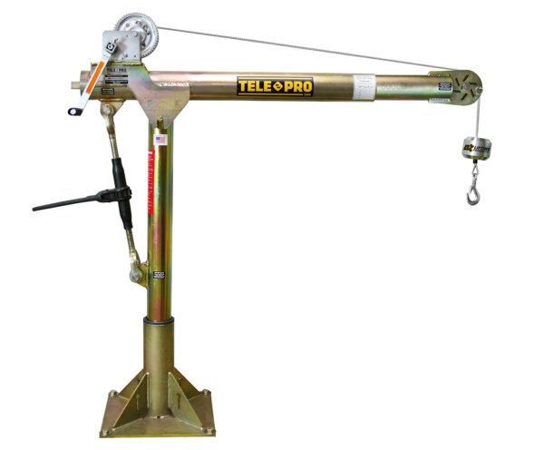 Tele-Pro 500 lb. Davit Crane w/ Manual Winch