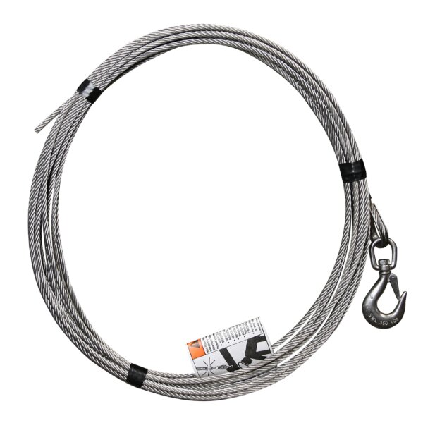 """1/4"""" x 45' Stainless Steel Cable Assembly"""
