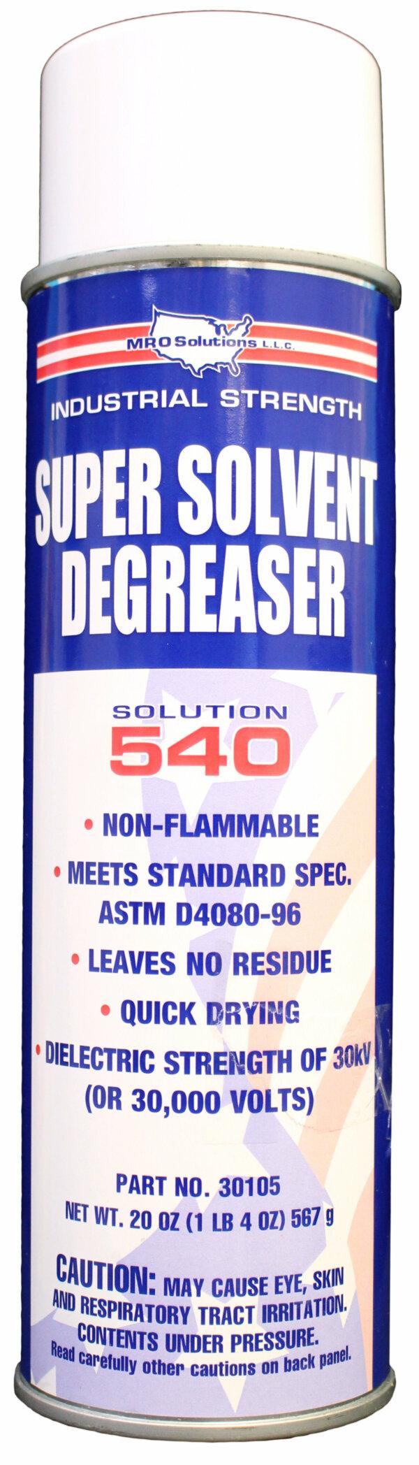 MRO Solution 540 – Super Solvent Degreaser (20 oz. Aerosol)