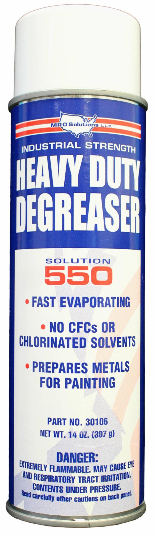 MRO Solution 550 – Heavy-Duty Degreaser (14 oz. Aerosol)