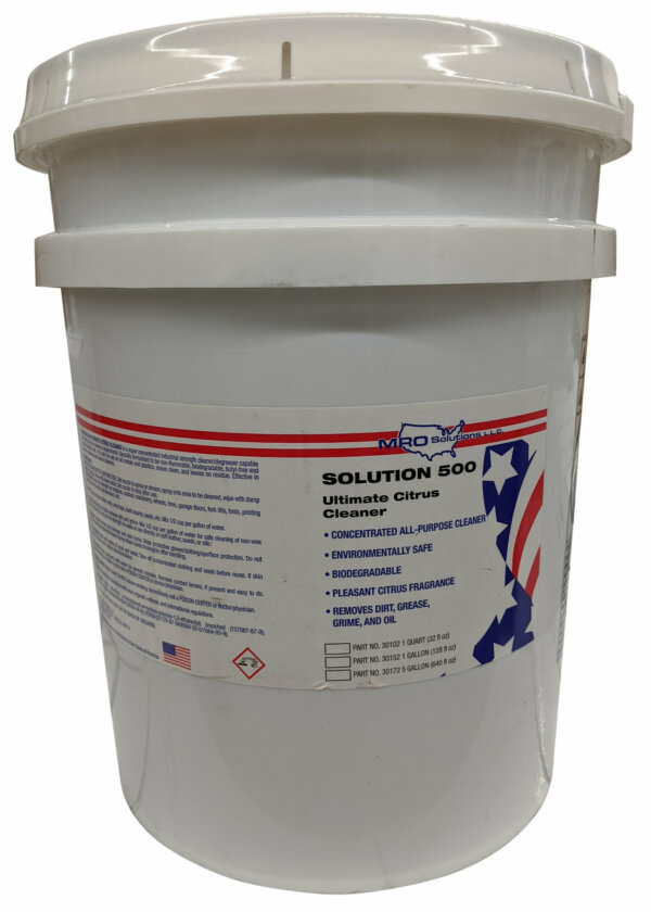MRO Solution 500 – Ultimate Citrus Cleaner (5 gal. Pail)