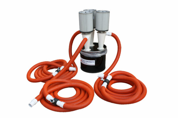 Portable Dust Collection System, 3-Way, Multi-user