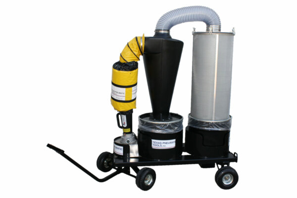 Single-user, Portable Collection System with 20 gallon canister and cart