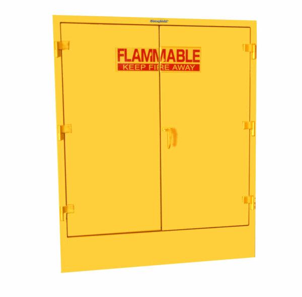 Heavy-Duty Double Drum Flammable Safety Cabinet, 12-Gauge Steel