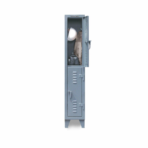 "Double-Tier Slim Line Locker, 122""W x 18""D x 72""H"