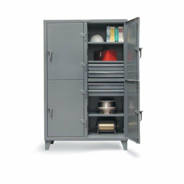 """Industrial Locker with Drawers, 20 Drawers/15 Shelves, 122""""W x 24""""D x 72""""H"""