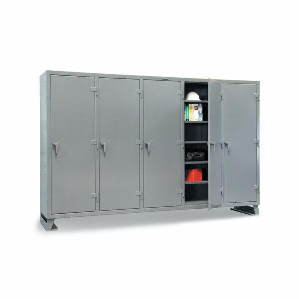 "Multi-Shift Industrial Storage Cabinet, 122""W x 24""D x 72""H"