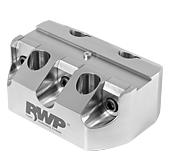 "0.75"" Dovetail Fixture, 3 Clamps, Stainless Steel, 3.00"" Bolt Circle Diameter"
